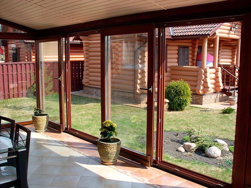Раздвижные холодные окна для террасы своими руками